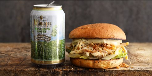 Bitburger grillt: Pulled Chicken Burger